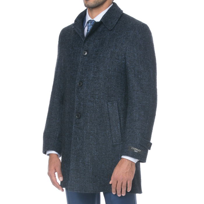 Navy Melange Coat