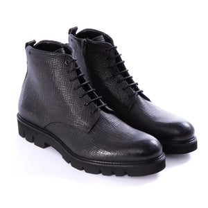 Black Double Zip Side Loader Boots - Sydney's, Toronto, Bespoke Suit, Made-to-Measure, Custom Suit,