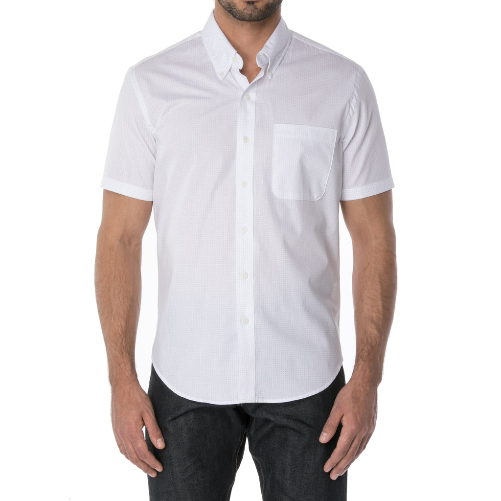 White Dot Short Sleeve Shirt - Sydney's, Toronto, Bespoke Suit, Made-to-Measure, Custom Suit,
