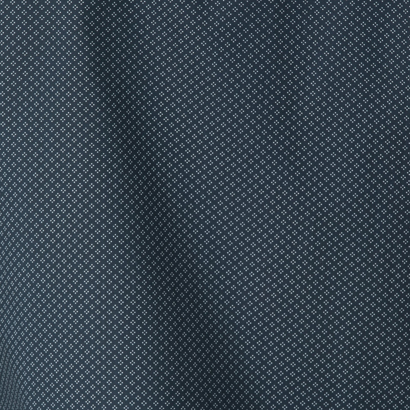 Navy Micro Dot Diamond Long Sleeve Shirt - Sydney's, Toronto, Bespoke Suit, Made-to-Measure, Custom Suit,