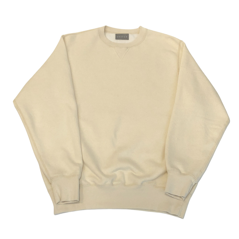 Overdye 16 oz Cotton Fleece Crewneck Sweatshirt, Natural