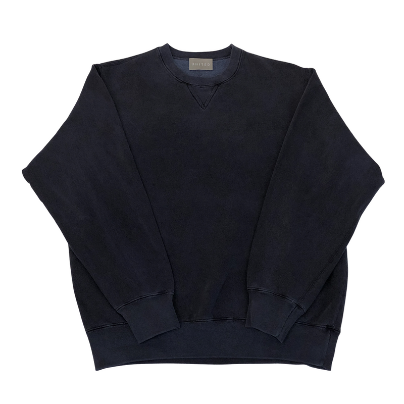 ON-LINE EXCLUSIVE Overdye 16 oz Cotton Fleece Crewneck Sweatshirt, Navy Sand