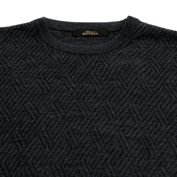 ON-LINE EXCLUSIVE Wool Jacquard Crewneck Sweater, Anthracite Melange