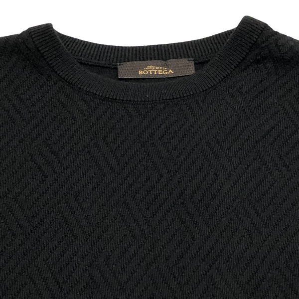 ON-LINE EXCLUSIVE Wool Jacquard Crewneck Sweater, Black