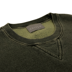 Overdye 16 oz Cotton Fleece Crewneck Sweatshirt, Sage Sand