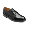 Atkin Dark Brown Polished Leather Derby Shoes