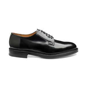 Black Polished Waverley Derby Shoes - Sydney's, Toronto, Bespoke Suit, Made-to-Measure, Custom Suit,