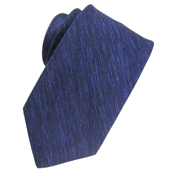 Navy Melange Solid Silk Tie - Sydney's, Toronto, Bespoke Suit, Made-to-Measure, Custom Suit,