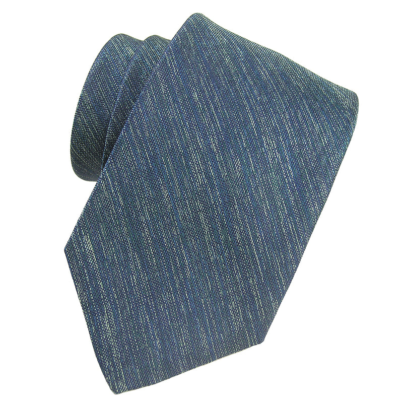 Teal Green Melange Solid Silk Tie - Sydney's, Toronto, Bespoke Suit, Made-to-Measure, Custom Suit,
