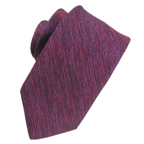 Red Melange Solid Silk Tie