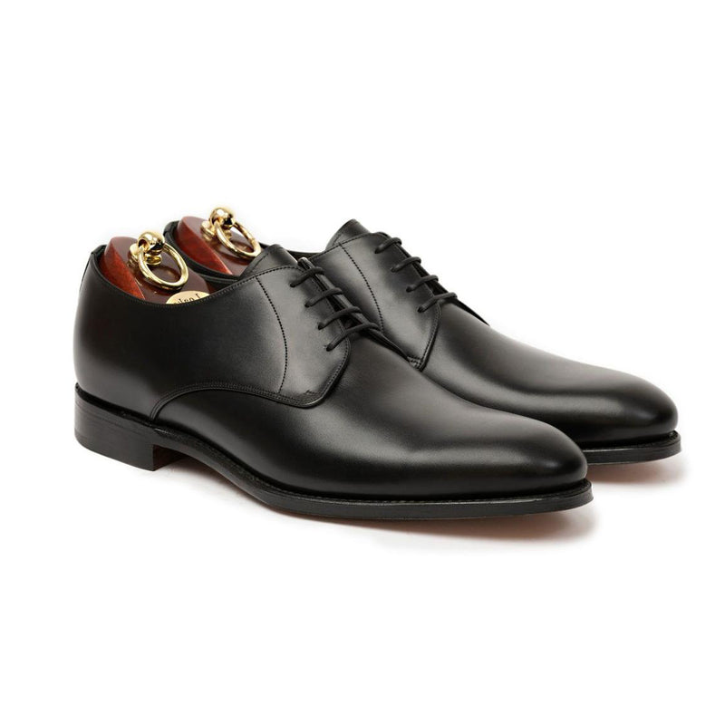 Atkin Black Polished Calf Leather Derby Shoes - Sydney's, Toronto, Bespoke Suit, Made-to-Measure, Custom Suit,