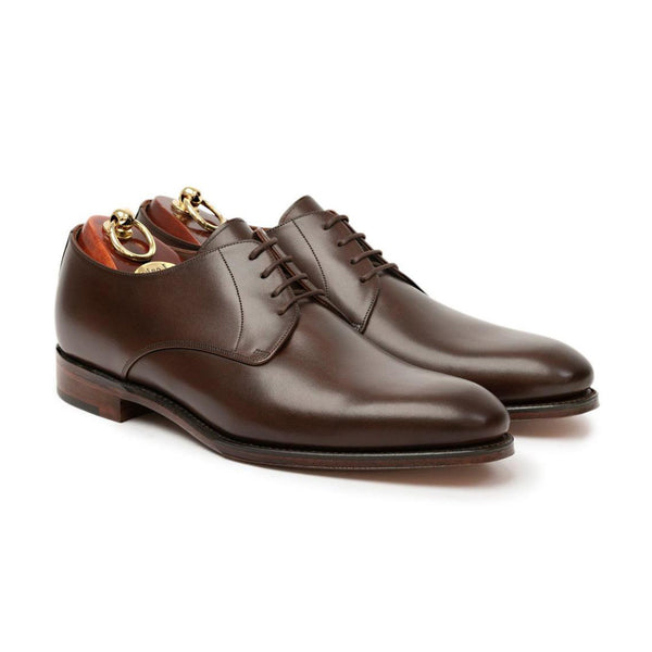 Atkin Dark Brown Polished Leather Derby Shoes - Sydney's, Toronto, Bespoke Suit, Made-to-Measure, Custom Suit,