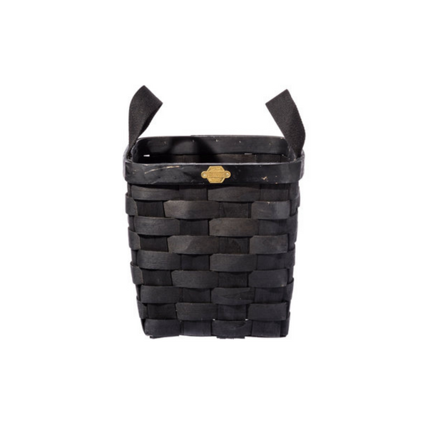 Wooden Square Basket, Black