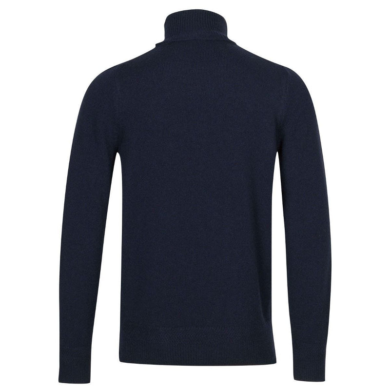 Navy Braddock Wool Cashmere Turtleneck Sweater