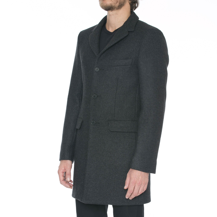 Charcoal Wool Car Coat