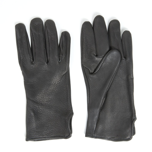 Black Deerskin Leather Gloves