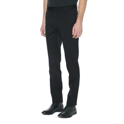 Charcoal Wool/Cotton Trouser