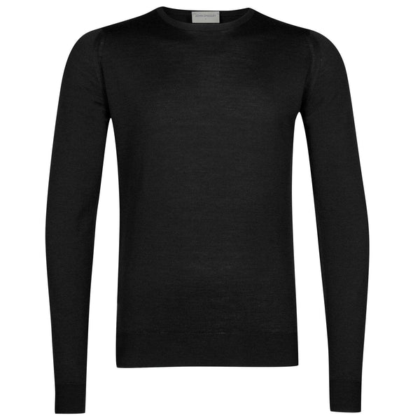 Black Lundy Crewneck Pullover Sweater
