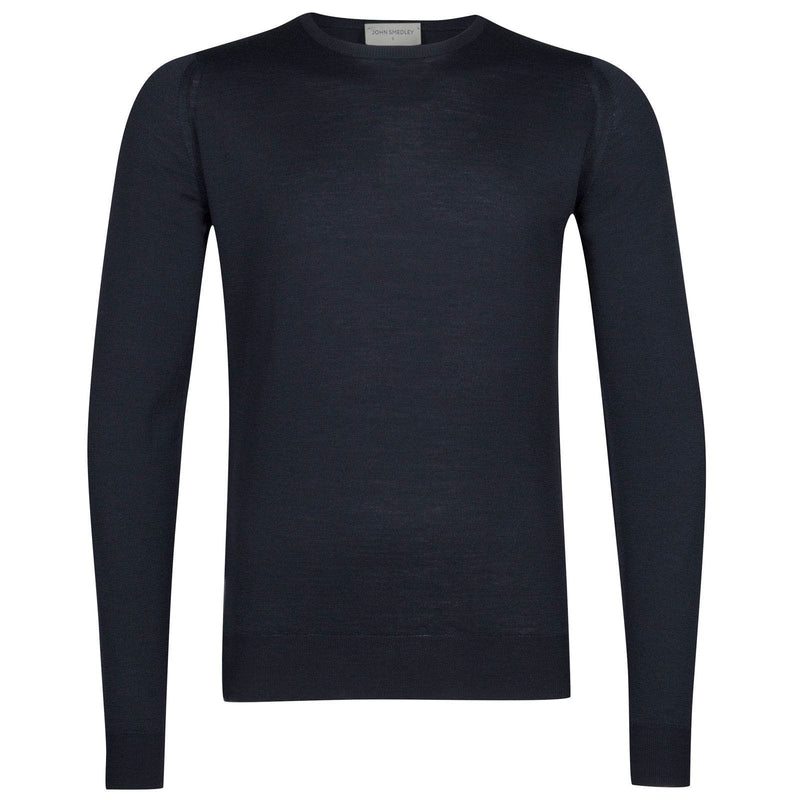 Midnight Navy Lundy Crewneck Pullover Sweater