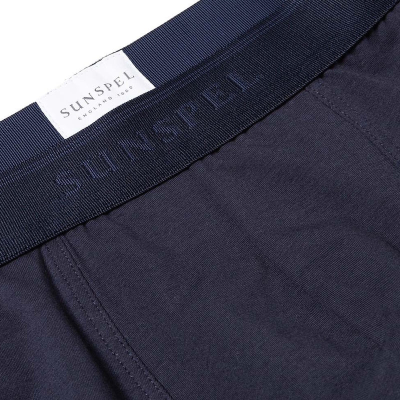 Navy Cotton Stretch Trunk - Sydney's, Toronto, Bespoke Suit, Made-to-Measure, Custom Suit,