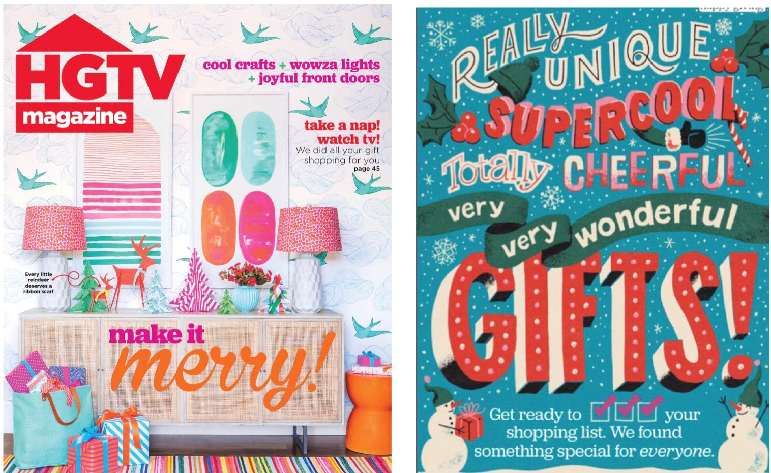 HGTV magazine Christmas Gift Guide