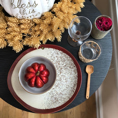 table setting red