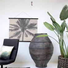 Living room with plant andpalm chart school cha