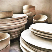 wooden mango plates and bowls