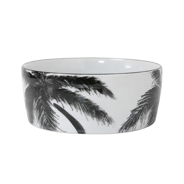porcelain jungle palm tree bowl