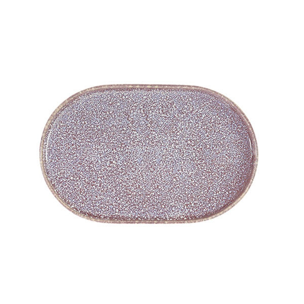 Oval shaped ceramic plate in lilac