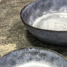 organically shaped grey bowls for pasta