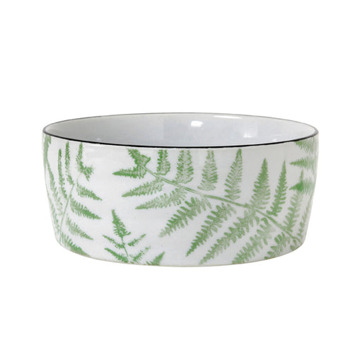 porcelain bowl with fern pattern