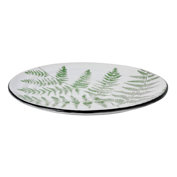 porcelain serving palte with fern pattern