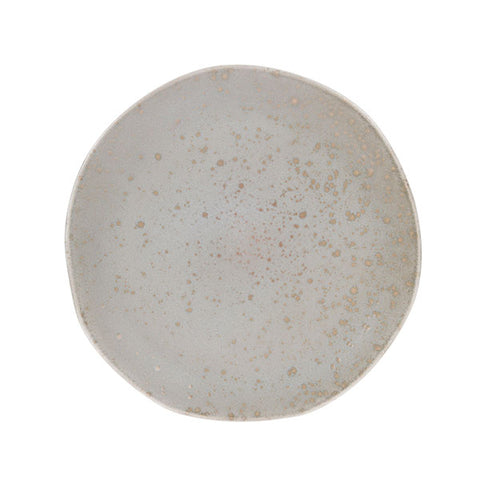 organic shaped ceramic dinner plate in soft mint color