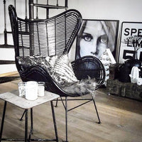 black rattan egg chair by HKliving