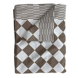 traditional dutch table cloth brown white pattern