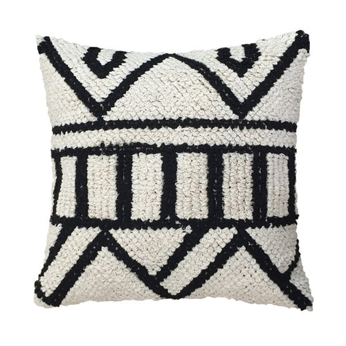hand knotted cushion black and white hk living usa
