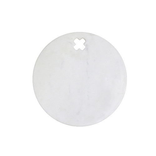 round marble board with cut out cross