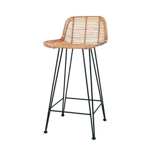 hk living usa natural rattan bar stool
