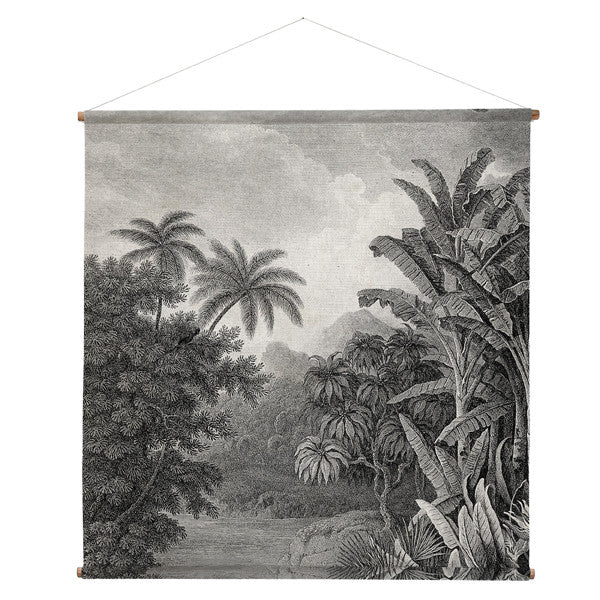 jungle wall chart xl hk living usa design palm trees grey