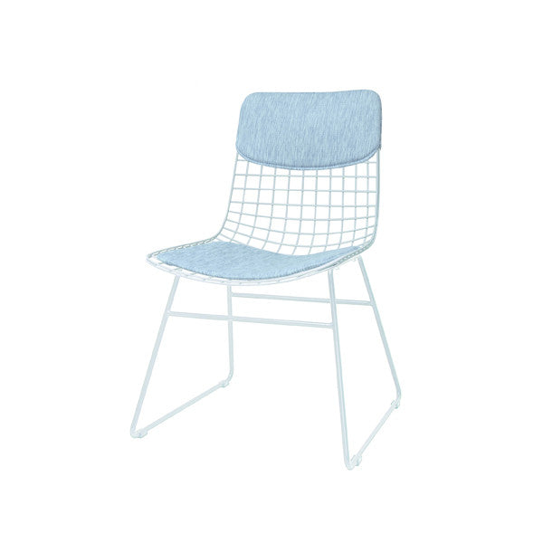 Metal Wire Chair   White ...