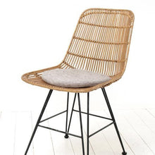 seat cover felt charcoal round in rattan chair hk living usa