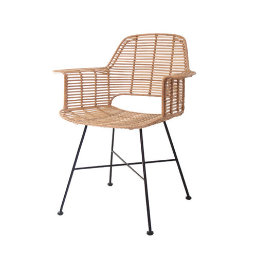 natural rattan tub chair with arm rest hk living usa