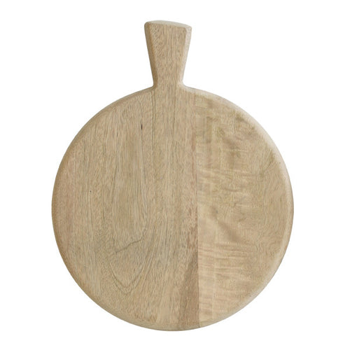 wooden plate with handle made of mango wood