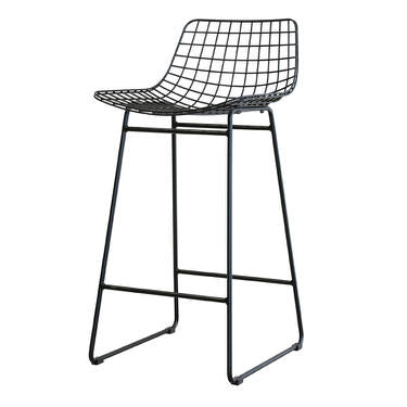 Black metal wire bar or counter stool