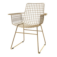 Metal wire brass chair modern furniture HK Living usa