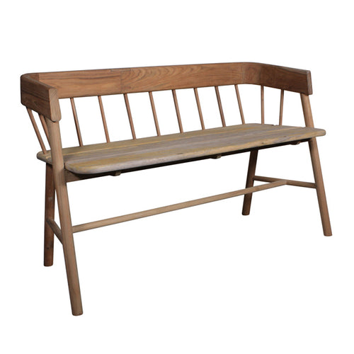 wooden teak bench for hall way or garden
