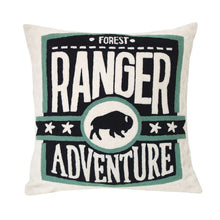 STBR | hand embroidered throw pillow - Forest Ranger