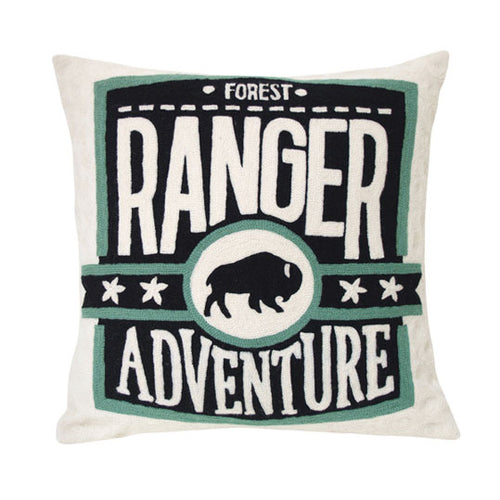 STBR | hand embroidered cushion - Forest Ranger