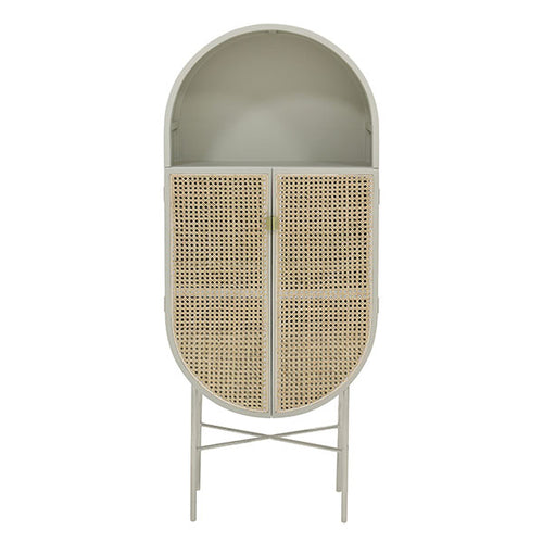 oval 80 style cabinet in light grey